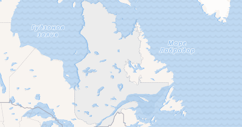 Квебек - карта