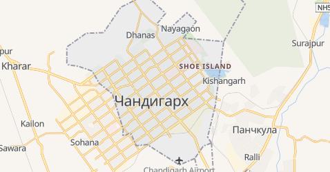 Чандигарх - карта