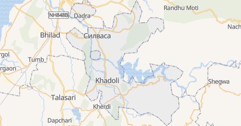Дадра и Нагар-Хавели - карта