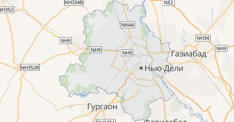 Национальный столичный округ Дели - карта