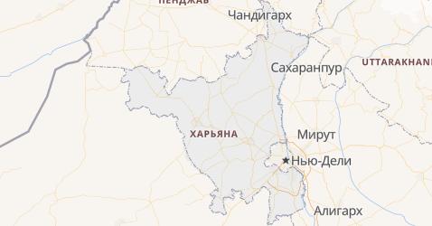 Харьяна - карта