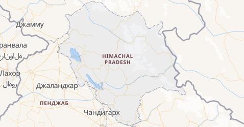 Химачал-Прадеш - карта