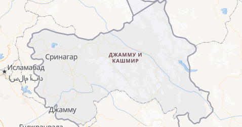 Джамму и Кашмир - карта
