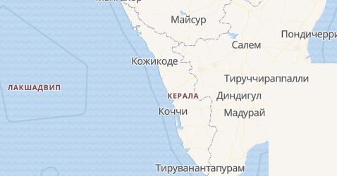 Керала - карта