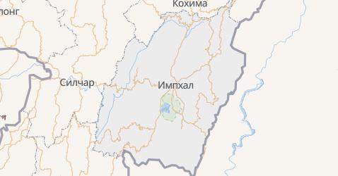 Манипур - карта