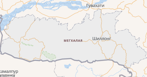 Мегхалая - карта