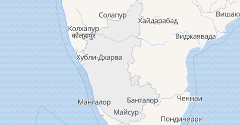Карнатака - карта