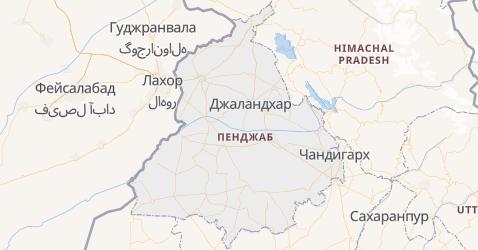 Пенджаб - карта