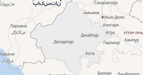 Раджастхан - карта