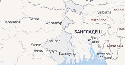 Западная Бенгалия - карта