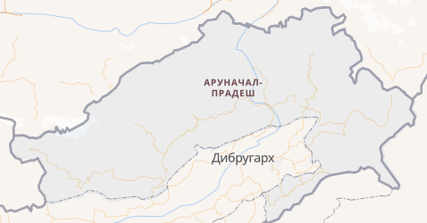 Аруначал-Прадеш - карта