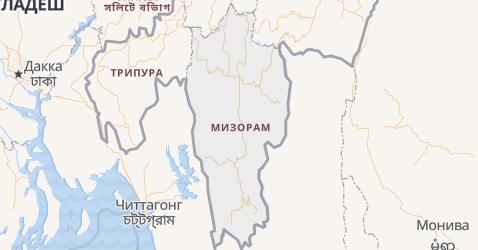 Мизорам - карта