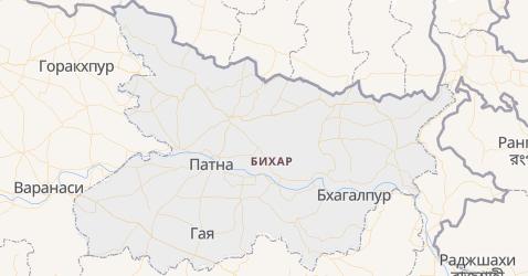 Бихар - карта