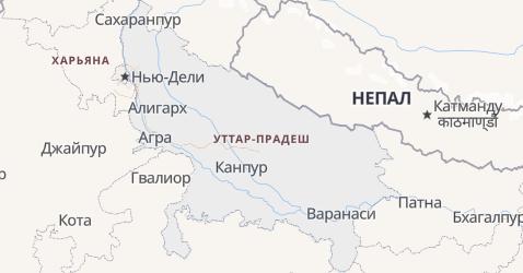 Уттар-Прадеш - карта