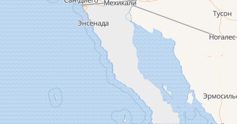Нижняя Калифорния - карта