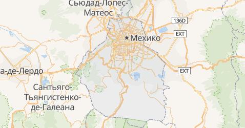 Мехико - карта
