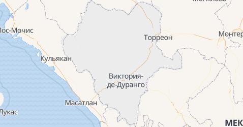 Дуранго - карта