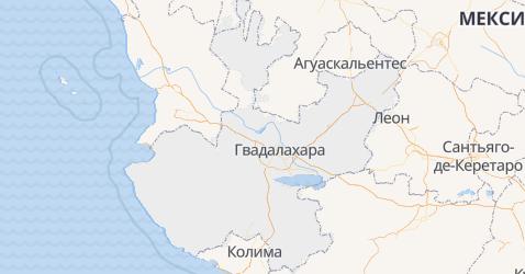 Халиско - карта