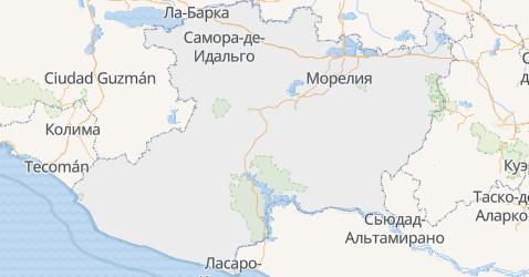 Мичоакан - карта