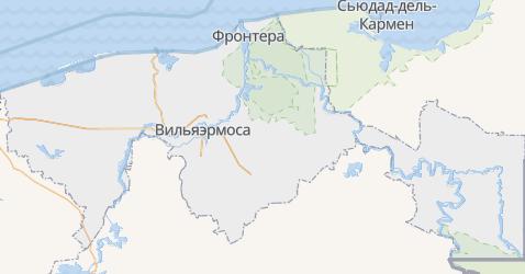 Табаско - карта
