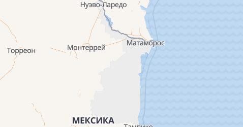 Тамаулипас - карта