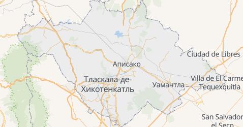 Тласкала - карта