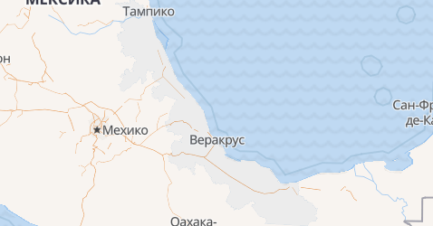 Веракрус - карта