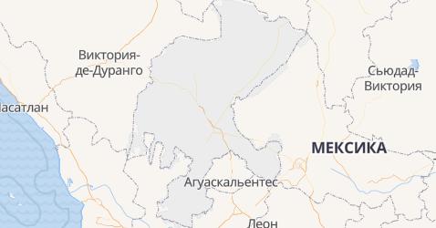 Сакатекас - карта