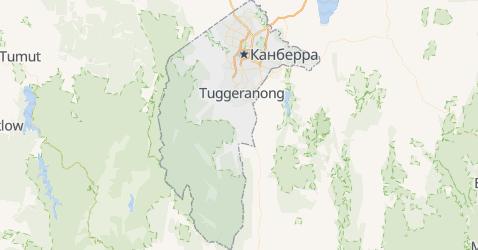 Австралійська столична територія - мапа