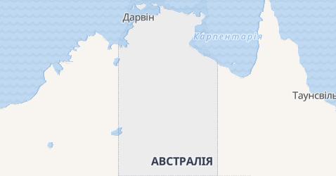 Північна територія - мапа