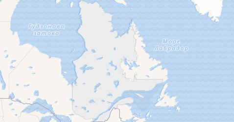 Квебек - мапа