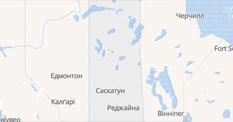 Саскачеван - мапа