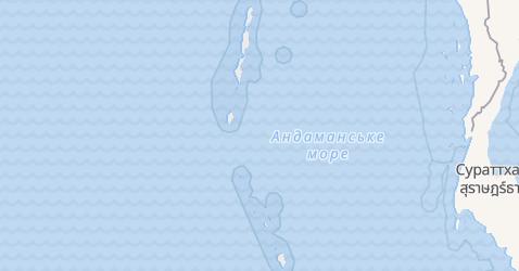 Андаманські і Нікобарські острови - мапа