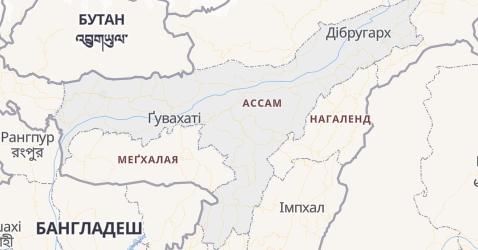 Ассам - мапа