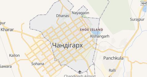Чандігарх - мапа
