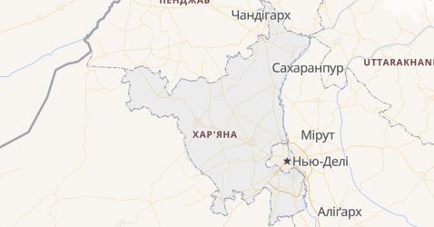 Харяна - мапа