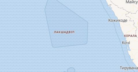 Лакшадвіп - мапа