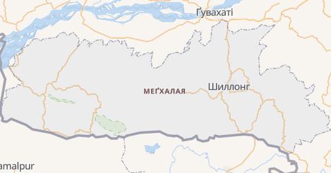 Меґхалая - мапа