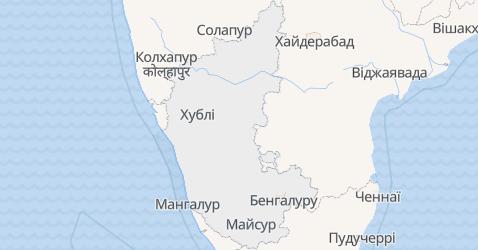 Карнатака - мапа