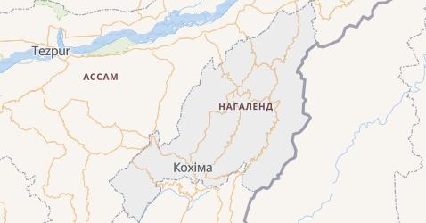Нагаленд - мапа