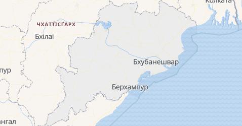 Одіша - мапа
