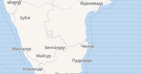 Пудучеррі - мапа