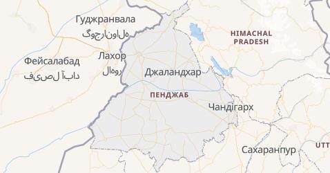 Пенджаб - мапа