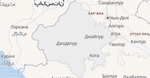 Раджастхан - мапа