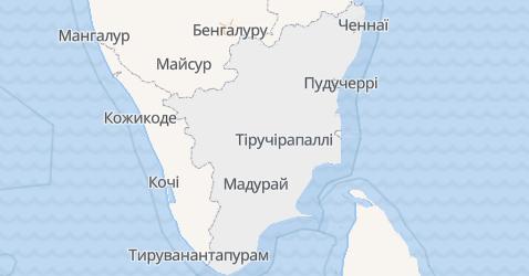 Тамілнаду - мапа