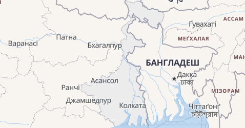 Західний Бенгал - мапа