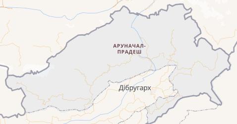 Аруначал-Прадеш - мапа