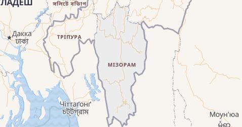 Мізорам - мапа