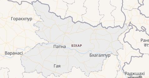 Біхар - мапа