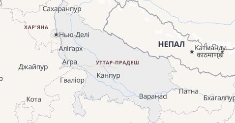 Уттар-Прадеш - мапа